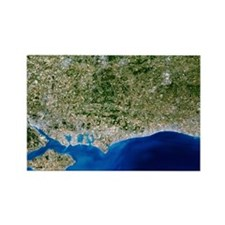 True-colour satellite image of Ha Rectangle Magnet