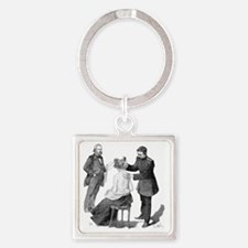 Tuberculosis research, 19th centur Square Keychain