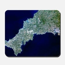 True-colour satellite image of Cornwall, Mousepad