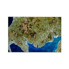 True-colour satellite image of so Rectangle Magnet