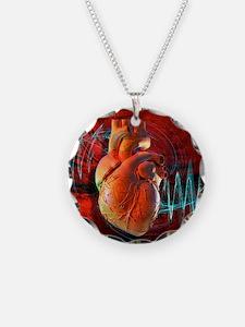 Human heart, artwork Necklace