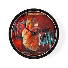 Human heart, artwork Wall Clock