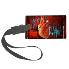 Human heart, artwork Luggage Tag