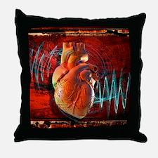 Human heart, artwork Throw Pillow