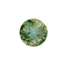 True-colour satellite image of Paris,  Mini Button