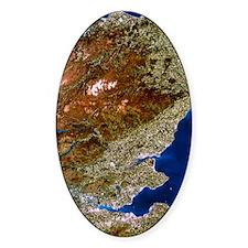 True-colour satellite image of nort Decal