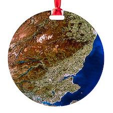 True-colour satellite image of nort Ornament