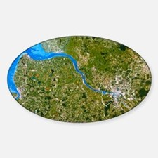 True-colour satellite image of Hamb Decal
