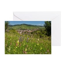 Romanian village Greeting Card
