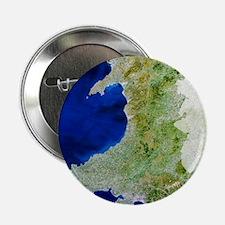 "True colour satellite image of Wales 2.25"" Button"