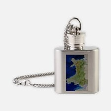 True colour satellite image of Wale Flask Necklace