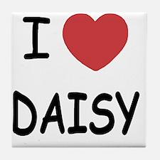 I heart DAISY Tile Coaster