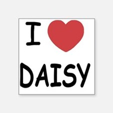 "I heart DAISY Square Sticker 3"" x 3"""