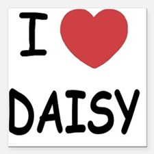 "I heart DAISY Square Car Magnet 3"" x 3"""