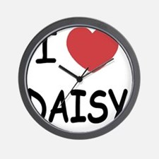 I heart DAISY Wall Clock