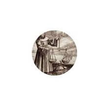 Roger Bacon, English philosopher Mini Button