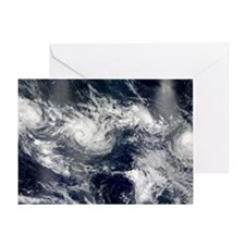 Tropical cyclones Greeting Card