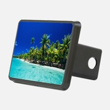 Tropical coastline Hitch Cover