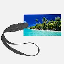 Tropical coastline Luggage Tag