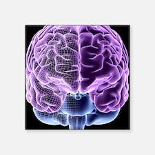 """Human brain, computer artwo Square Sticker 3"""" x 3"""""""
