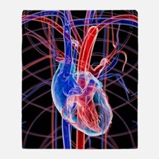 Human heart, artwork Throw Blanket