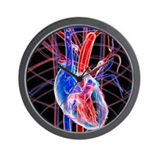 Human heart, artwork Wall Clock