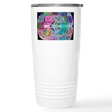 Human brain, computer artwork Travel Mug