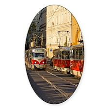 Trams in Prague Decal