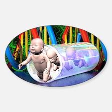 Human cloning, conceptual artwork Decal