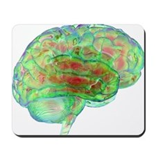 Human brain,computer artwork Mousepad