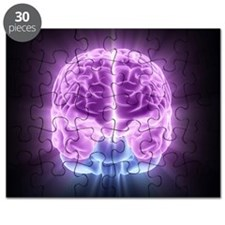 Human brain,computer artwork Puzzle
