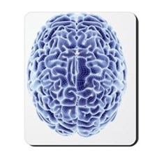 Human brain, computer artwork Mousepad