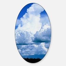 Towering cumulus clouds Sticker (Oval)