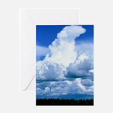 Towering cumulus clouds Greeting Card