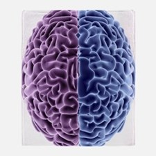Human brain, computer artwork Throw Blanket