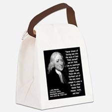 Wesley Religion Quote 2 Canvas Lunch Bag