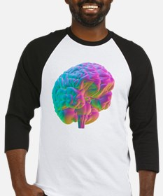 Human brain, computer artwork Baseball Jersey