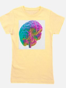 Human brain, computer artwork Girl's Tee