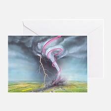 Tornado dynamics Greeting Card
