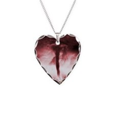 Tornado Necklace Heart Charm