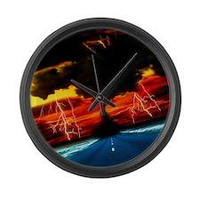 Tornado Large Wall Clock