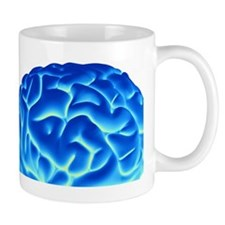 Human brain, artwork Mug