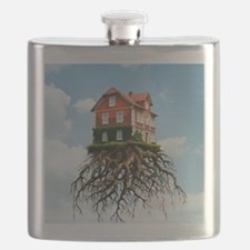 Relocating, conceptual image Flask
