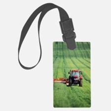 Tractor cutting grass for silage Luggage Tag