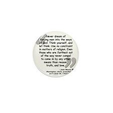 Wesley Religion Quote Mini Button