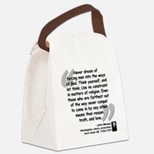 Wesley Religion Quote Canvas Lunch Bag