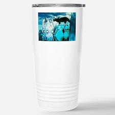 Torosaurus dinosaur in an icy l Travel Mug