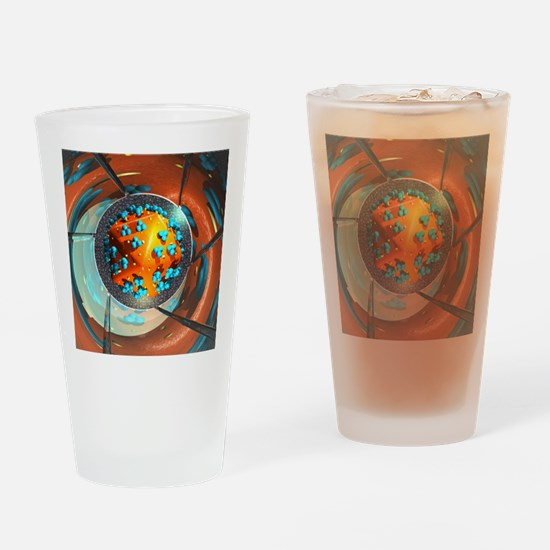 HIV research, conceptual artwork Drinking Glass