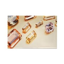 Topaz gemstones Rectangle Magnet