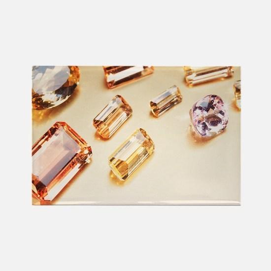 Topaz gemstones Rectangle Magnet